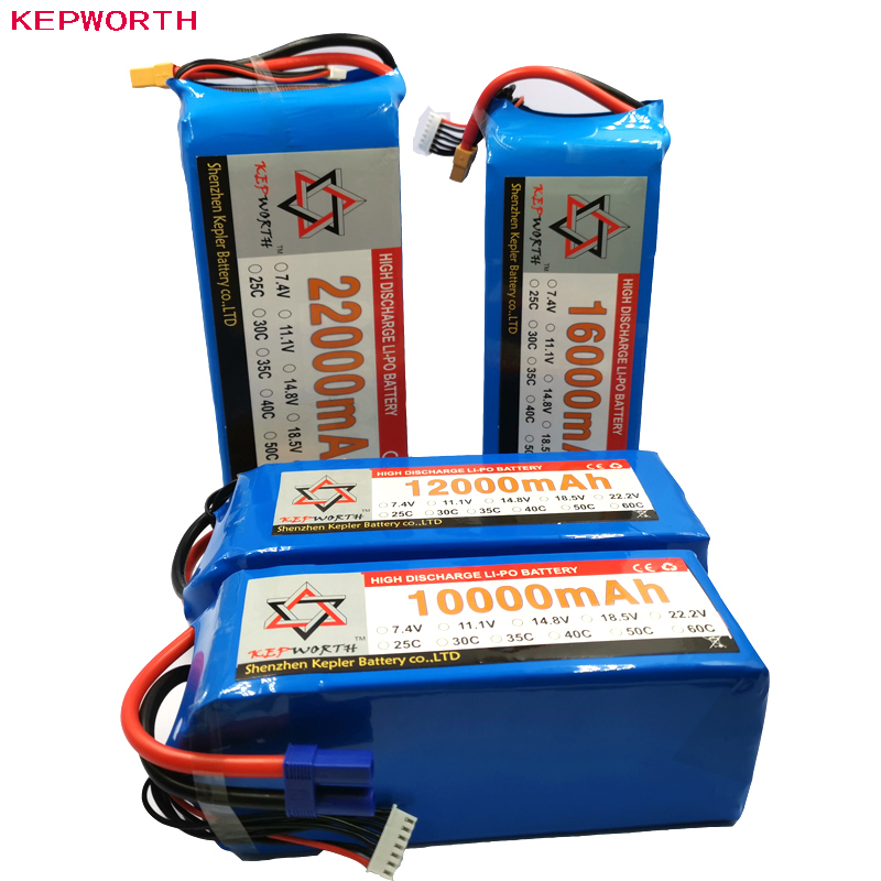<font><b>6S</b></font> 22.2V RC <font><b>Lipo</b></font> Battery High Power 10000 12000 16000 <font><b>22000mAh</b></font> For Helicopter Drone plane Car Toy RC Li-Po Battery High Capacity image