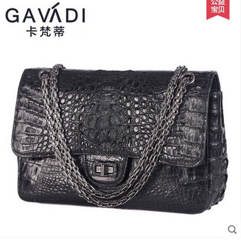 2018 kafandi authentic alligator skin women crocodile skin bag fashion trend women chain bag new single shoulder slant cross-bag мышь rapoo 1190 белый