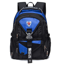 Waterproof Oxford Swiss Travel Backpack Men 17 Inch