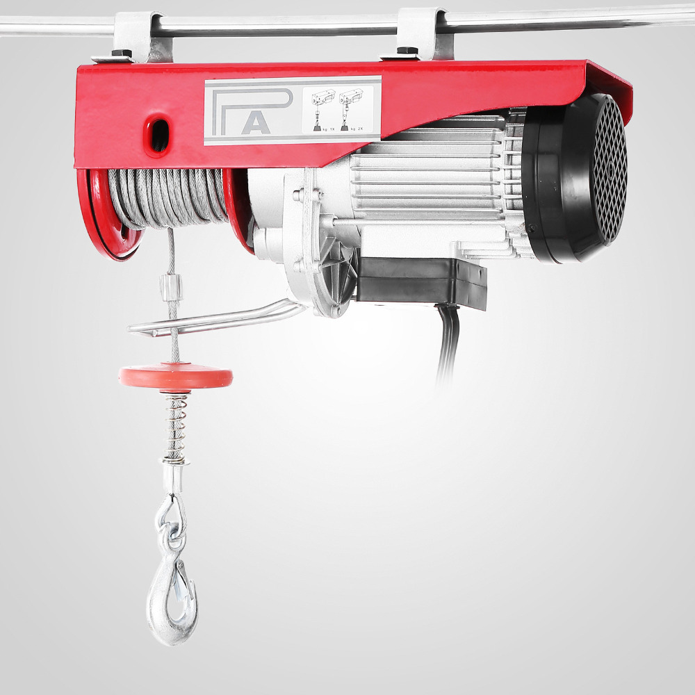 New 1320lbs Mini Electric Hoist Crane Overhead Garage Winch Remote Control Auto Lift
