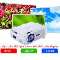 Portable Wifi Projectors 1080P Android4.4 HD 7000Lumens Movie Media Player Home Theater Projector For Video Game TV EM88