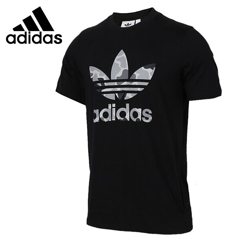 Original New Arrival  Adidas Originals CAMO TREF TEE Men's T-shirts short sleeve Sportswear