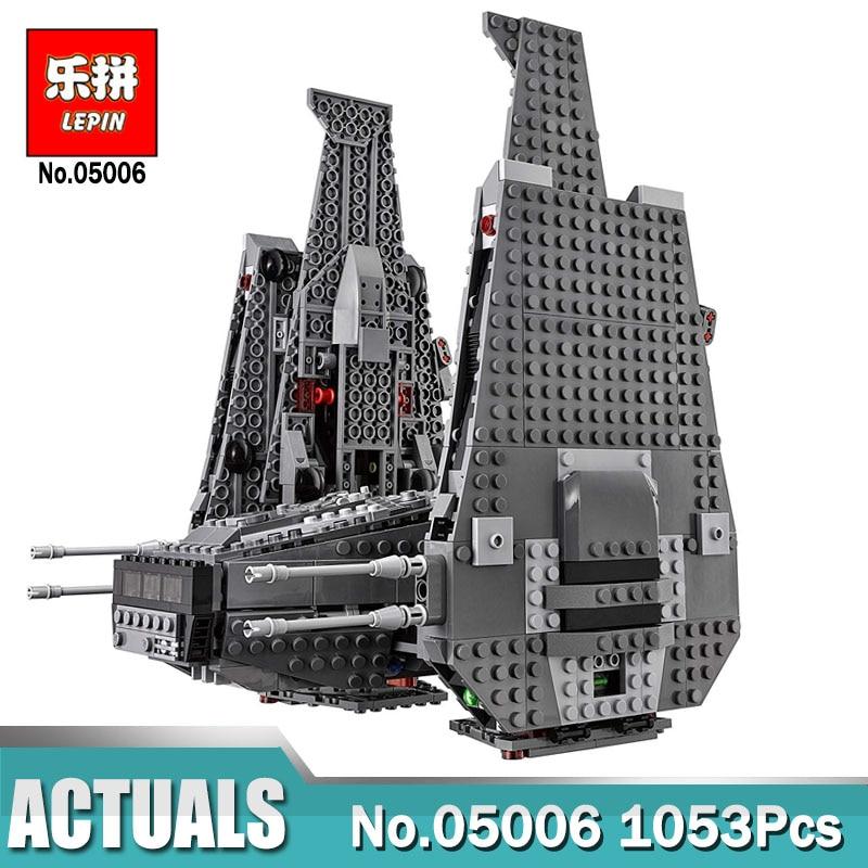 1053 pcs Lepin 05006 Guerres sur Étoiles Le Dirige Kylo Ren Commande Navette lepin Blocs de Construction Jouets Éducatifs Compatible LegoINGlys 75104