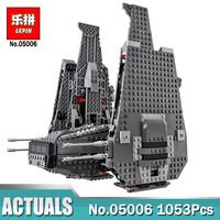 1053Pcs Lepin 05006 Wars on Star The Kylo Ren Command Shuttle lepin Building Blocks Educational Toys Compatible LegoINGlys 75104