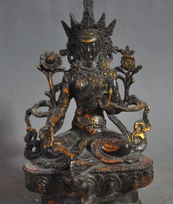 Asian Antiques Nepal Tibet Art Statue Bronzo Dorato