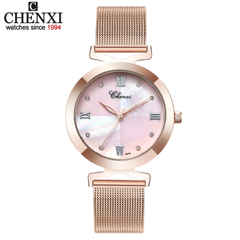 CHENXI Brand Ladies Quartz Watches Women Luxury Clock Female Waterproof Fashion Romantic Woman Watch Relogio Faminino xfcs new yadan xfcs fashion black womens watches waterproof ladies quartz watch simple female wrist watch relogio masculino clock