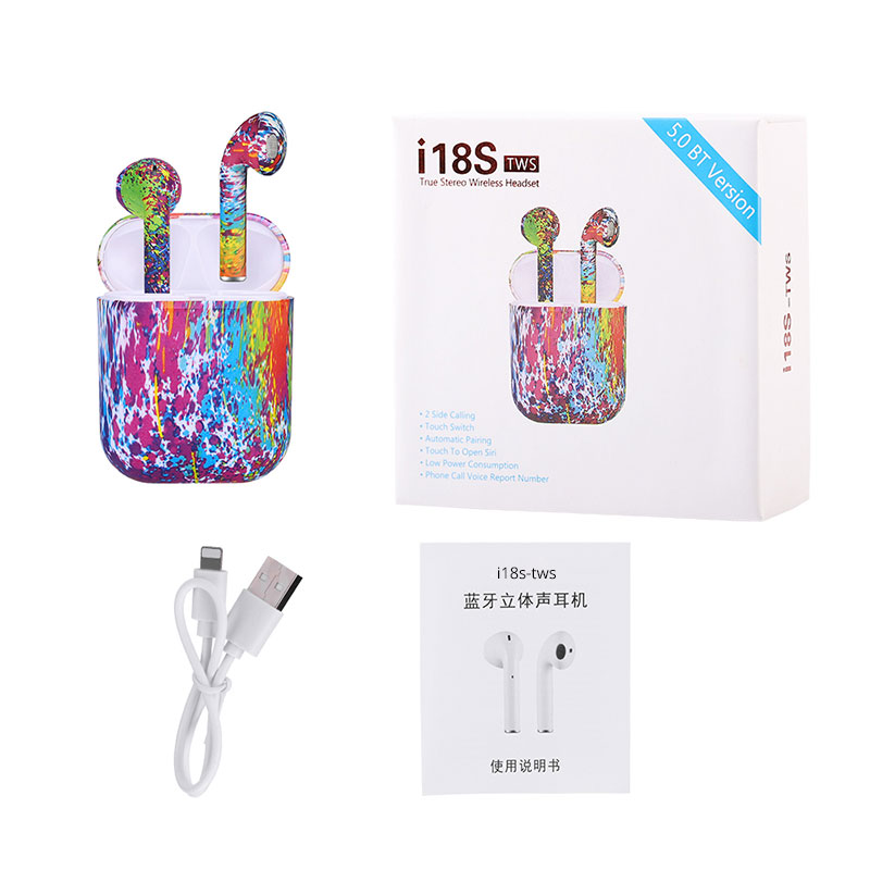 New <font><b>i18S</b></font> <font><b>TWS</b></font> Mini <font><b>Earphones</b></font> Pop Up Window Touch Control with Mic Bluetooth 5.0 Headphones Stereo Sound VS i10 i11 i12 i14 <font><b>tws</b></font> image