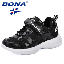 BONA Kids Shoes for Boy Girl Children Casual Sneakers  Mesh Breathable Soft Running Sport Shoe Outdoor Comfortable Leisure Shoes soccer shoes children boy girl new hot sale rubber soccer outdoor sport athletics breathable comfortable children shoes