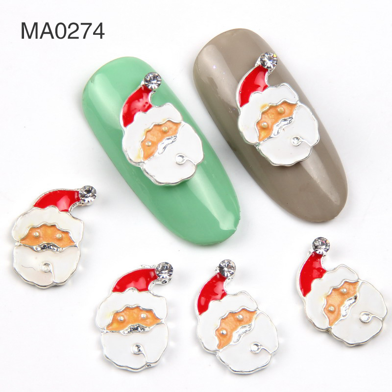 Elessical 10pcslot Christmas Design For Nail Decorations Snowman