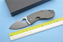 XS-EDC C158 Titanium Alloy Handle D2 Steel Blade Camping Field Survival Outdoor Hunting EDC Tools