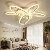 Творческий круговой Акрил светодиодный потолочный светильник дома Гостиная Спальня кабинет проход верхнего света коммерческого освещени