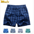 Boxers Short men breathable underwear High quality plaid Mens under pant Cotton mens bodysuit European Russian size 3XL B01