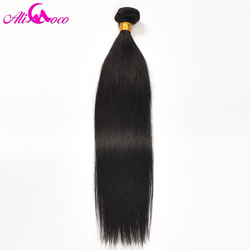 Ali Coco Hair Brazilian Straight Hair 100% Human Hair Weave Bundles 1 Piece Natural Color 10-28 inch Non Remy Hair...