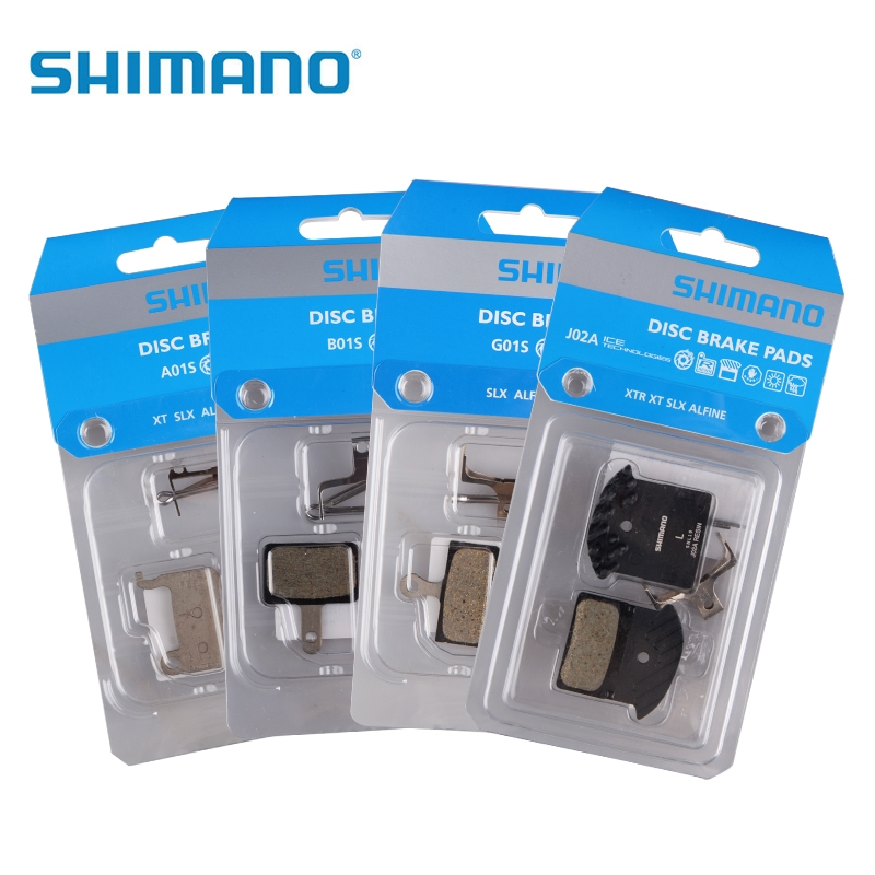 New J02A RESIN Brake Pads with cooling fins fit with DEORE M615 / SLX M675 / M7000 / XT M785 / M8000 J04C Metal <font><b>G01S</b></font> A01S image