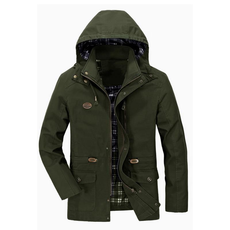 Men's Spring Autumn Jacket Casual Bomber Jackets Men Tactical Coat Detachable Hood Windproof Windbreaker Jaqueta Masculina