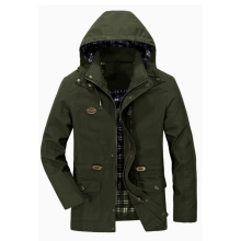 Mens Spring Autumn Jacket Casual Bomber Jackets Men Tactical coat Detachable Hood Windproof Windbreaker jaqueta masculina
