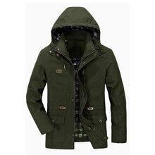 남성 봄 가을 재킷 캐주얼 폭격기 재킷 남성 전술 코트 분리형 후드 방풍 윈드 브레이커 jaqueta masculina