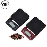YRP-báscula de café de alta precisión portátil LCD, 3kg, 0,1g, electrónica, con temporizador, Digital, herramientas de cocina V60 barista