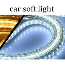 Tira CONDUZIDA 5050 DC 12V flexível à prova d' água luz 5 M/lote 60 60leds/m Para Casa Decoração Da Lâmpada da luz Do Carro 14.4W preço de fábrica de venda