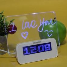 Оригинальный Highstar из светодиодов световой форум цифровой будильник, Памятка календарь термометр подсветка с 4 разъём(ов) USB Hub часы