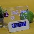 Original highstar led luminoso message board digital despertador, memorando calendário termômetro backlight com 4 portas usb hub relógio