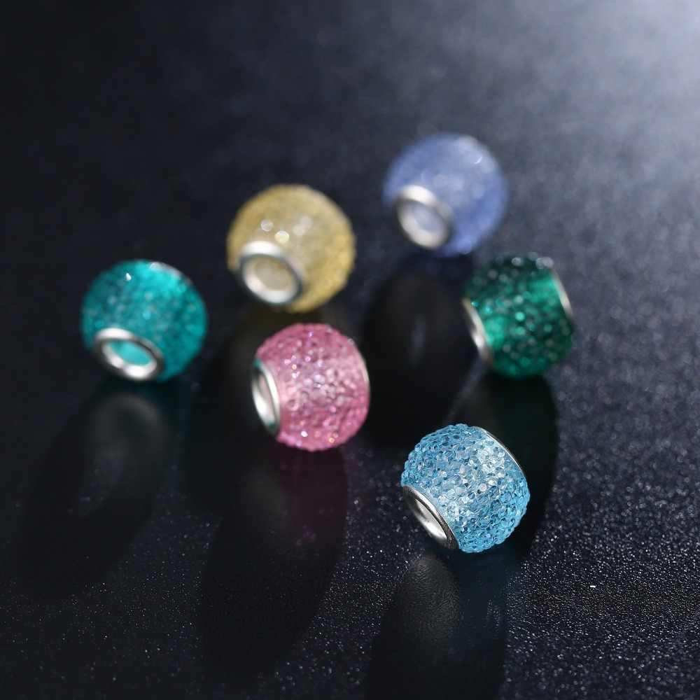 חדש מקורי אירופאי מוראנו חרוז זכוכית Aolly רב צבע קשת קסם Fit פנדורה צמידי צמיד DIY תכשיטי נשים