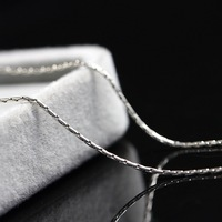silver jewelry wholesale 925 Sterling Silver Necklace anti allergy do old silver necklace woman retro fine Necklace