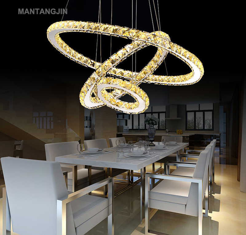 Светодиодный хрустальный светильник для гостиной, хрустальные люстры, подвесные потолочные светильники