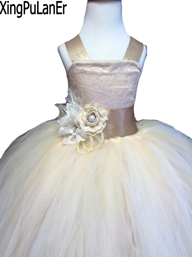 Ball Gowns Sleeveless Big Bow Back   Flower   Appliques Waist Princess First Communication   Dresses   Pageant Kids   Flower     Girl     Dress
