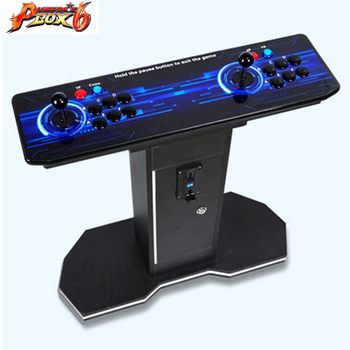 2019 New Joystick Consoles with multi game PCB board 1300 in 1,pandora box 6 arcade joystick game console Double  controllers 2019 new king of fighters joystick consoles with multi game pcb board 1300 in 1 pandora box 6 arcade joystick game console