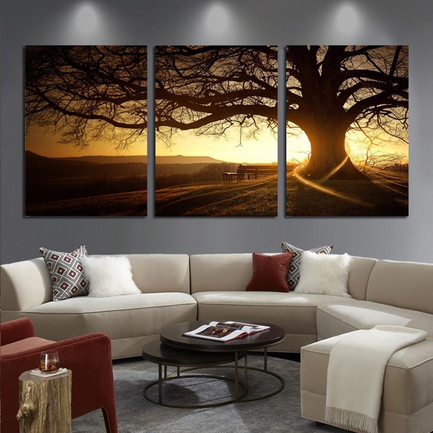 3 Πάνελ Μοντέρνα Τυπωμένο Δέντρο - Διακόσμηση σπιτιού - Φωτογραφία 3