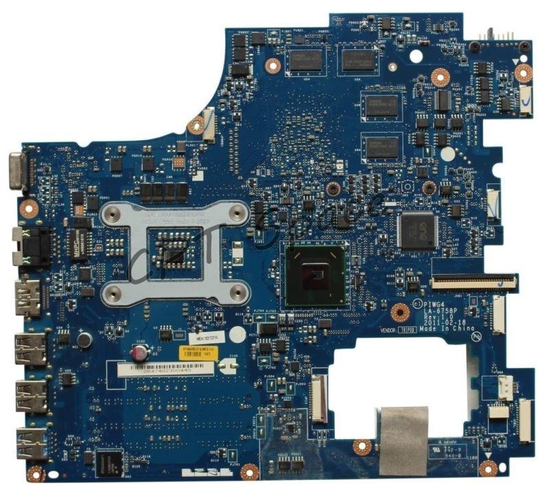 PIWG4 LA-6758P REV:1.0 For Lenovo IdeaPad Y770 G770 laptop Motherboard HM65 PIWG4 LA-6758P REV:1.0 DDR3 PGA989 Mainboard