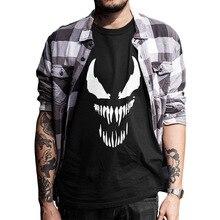 EU Size Venom T Shirt Men Cool Comic Originality Black Cotto