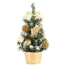 Аксессуары для домашнего декора, искусственные настольные мини-елочные украшения, праздничные миниатюрные елки 20 см, украшение для комнаты