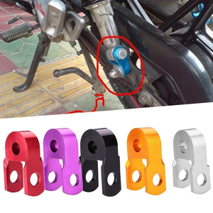 Image 3 - 1Pcs Motorcycle Shock Absorption Aluminum alloy Height Extender Suspension Riser Red/Purple/Black/Gold/Silver