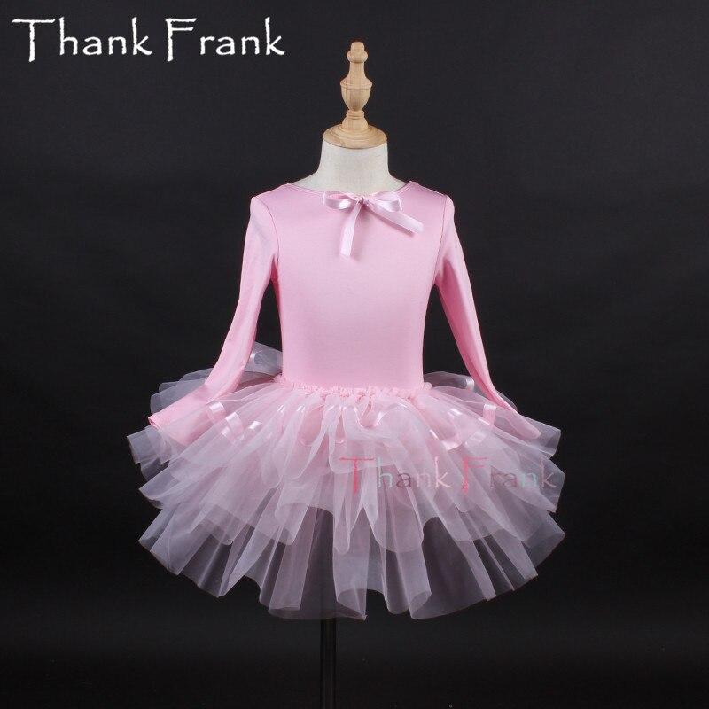 Filles Camisole Tutu Ballet robe enfants adulte arc à manches longues Ballet danse justaucorps robes femmes professionnel ballerine Costume C6 - 5