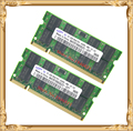 Памяти ноутбука для Samsung 4 ГБ 2 x 2 ГБ 800 мГц PC2-6400 DDR2 ноутбук оперативной памяти 4 г 800 6400 S 2 г 200-контактный SO-DIMM