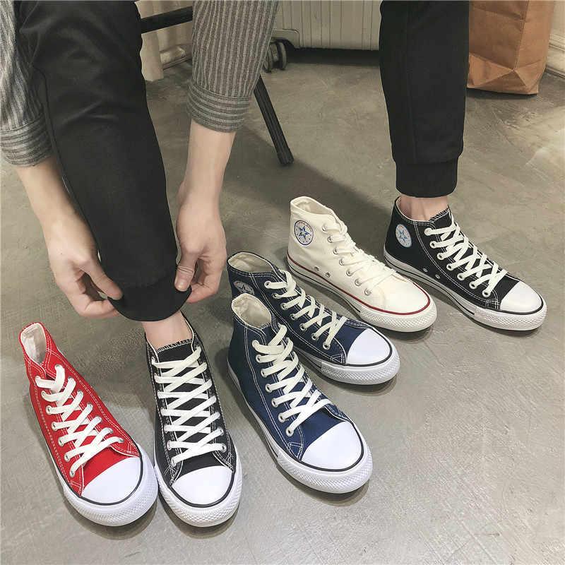 YIdemusha Novo Verão Sapatilhas Cunhas Sapatas de Lona Dos Homens Homens Sapatos Casuais Respirável Cesta Branca Estrelas Sapatilhas Sapatos Zapatos Mujer