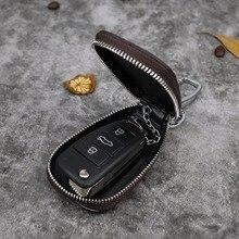 Ключница для мужчин ретро многофункциональный домашний брелок для ключей женский брелок для мужчин и женщин из натуральной кожи держатели ключей от автомобиля
