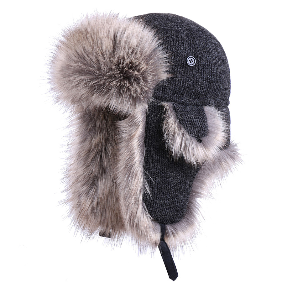 Winter Trapper Hat Cotton Russian Ushanka Plush Earflap Bomber Hat Wool Aviator Pilot Trooper Cossack Faux Fox Fur Snow Ski Cap(China)