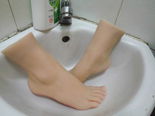new girls simulate exciting foot feet sweet toes mold tanning skin natural clear toenails