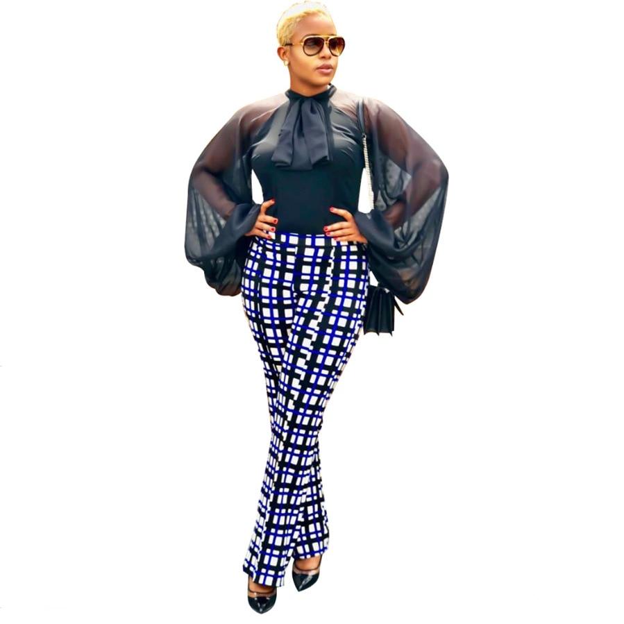 2019 New Black Women   Shirts   Lantern Sleeve Chiffon Mesh O-neck Long Sleeve High   Blouses     Shirts   Dress Vestidos