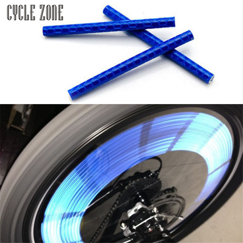 Hothot Super 2017 12pcs Bicycle Wheel Spoke Reflector Reflective Strip Clip Tube Outdoor Dynamic security warning