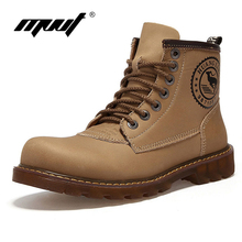 2016 Brand men Genuine Leather boots Super quality Warm cotton shoes Outdoor shoes Waterproof Timber boots