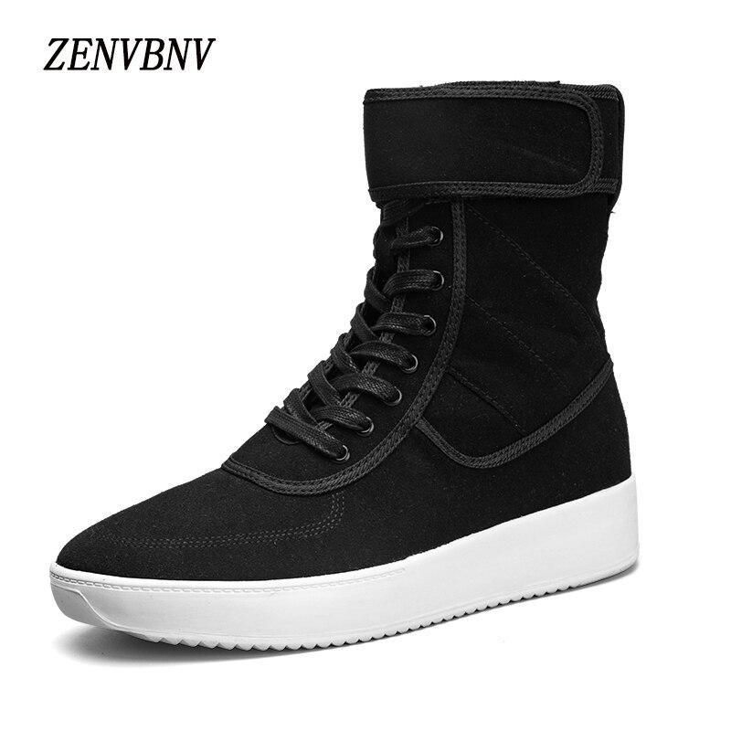 Zenvbnv Новый высокое качество Для мужчин кожа модные высокие Для мужчин повседневная обувь удобные человек Туфли без каблуков Кружева на молн…