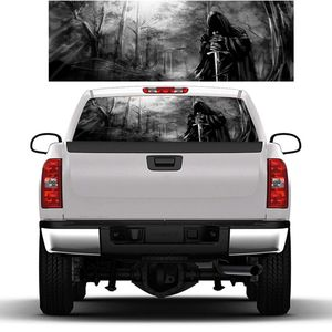 Image 2 - 3D Grim Reaper Death Forest Rear Window Graphic Sticker Car Truck SUV Van Decal