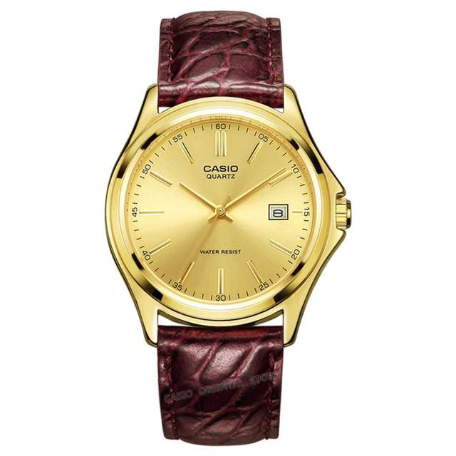 0cd19dbad98 Online Shop CASIO Top Brand Luxury Watch 100% Genuin 2017 Gold Quartz Men  Wrist Clock Relogio Masculino table Casio classic MTP-1183Q-9A