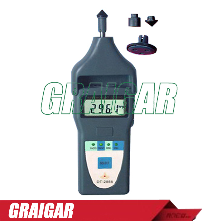 NEW Wholesale Laser Type DT-2858 Digital Tachometer Fast Shipping new type co2 laser head