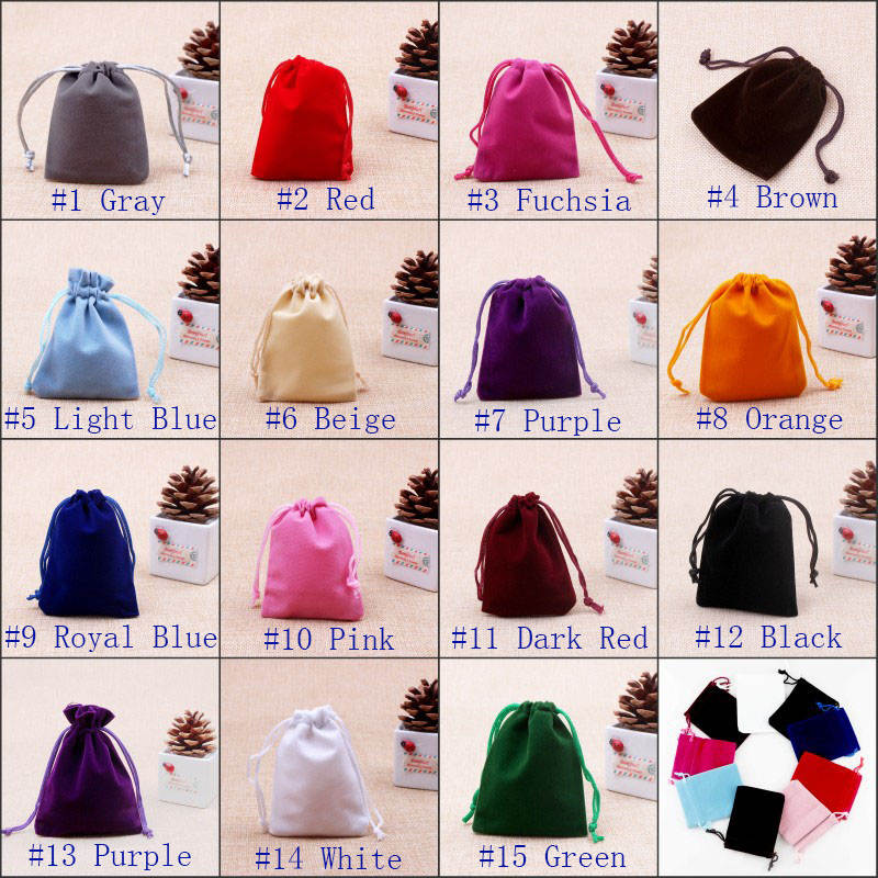 Large STOCK Velvet Drawstring Jewelry Gift Bags Pouches Wedding Favor HOT Velvet Bags Jewelry Storage 5000PCS 9X12CM