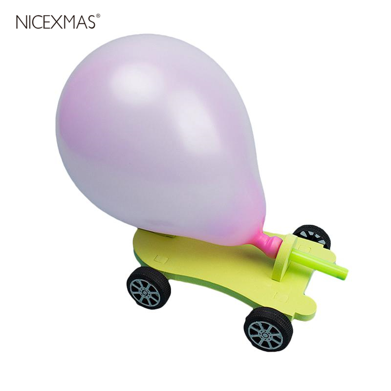 Filler Balloon Racer DIY Balloon Car Creative Scientific Childrens Educational  Reaction Car Best Gifts For Kids Craft Toys